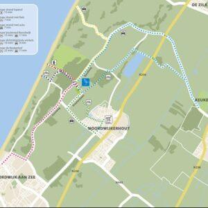 Map of the surrounding Noordwijk