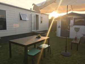 Chalet with sunny garden
