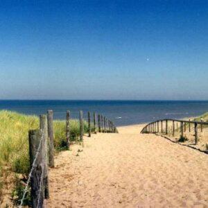 Walk to the beach of Noordwijk